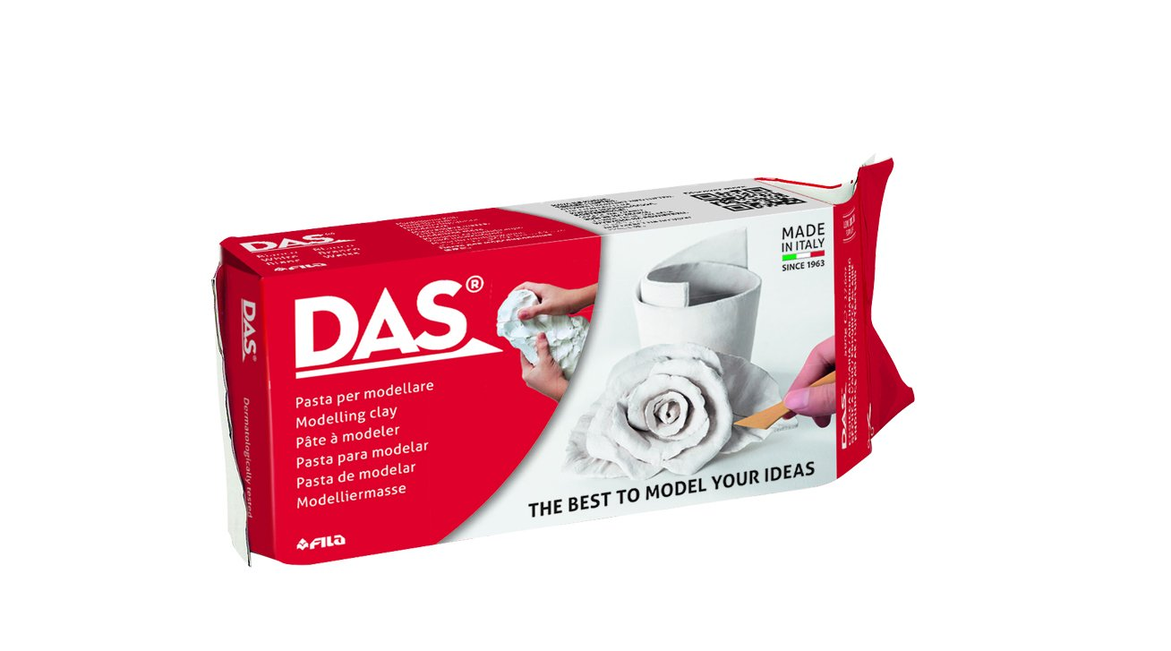 DAS Air Hardening Modeling Clay, 2.2 Pound Block, White (387500)