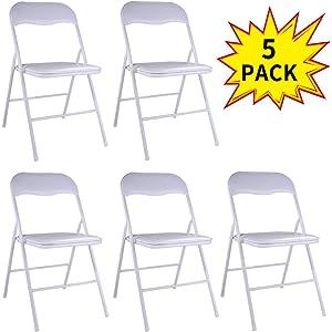 Amazon.com: lazymoon 5 Pcs plástico Sillas plegables sillas ...