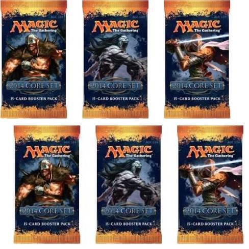 Magic The Gathering Draft (2 Player Booster Draft Set: Magic the Gathering MTG - M14 Core Set 2014 Booster Packs (6 Packs))