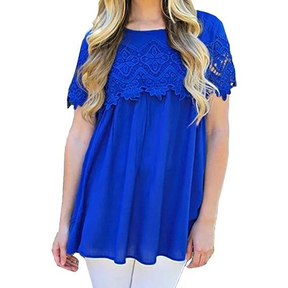 Blusas Flojas De Las Mujeres 2018 Blusa Floja del Ajuste del Cordón Camisas del Cuello Redondo