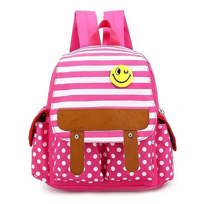 Amazon Com Skyflying Dot Cute Kids Backpack Stripe Boys Girls