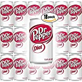 Diet Dr Pepper, 7.5 Fl Oz Mini Can (Pack of 18, Total of 135 Oz)