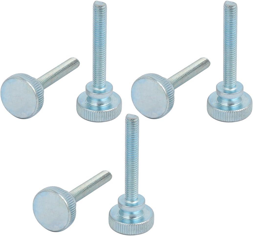 Sourcingmap/® M6/x 40/mm runder Kopf Schraube auf Daumenschrauben ger/ändelten Knopf Griff