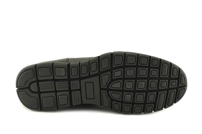 ConBuenPie by BECOOL - modelo 2612 - Zapato Extracomodo de Hombre de Piel en Color Negro (42, Negro)