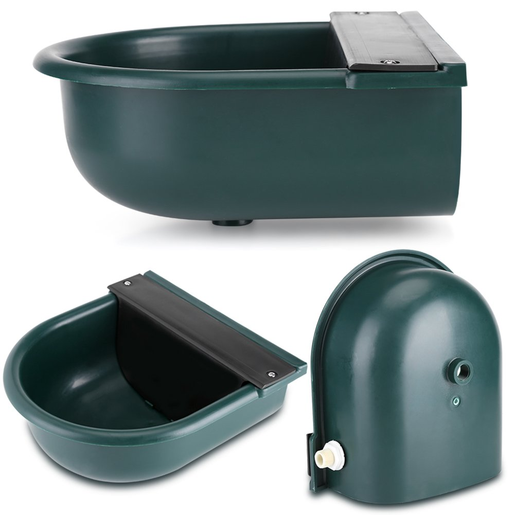 Yosoo Drinking Bowl For Dog, 4L Automatic Float Valve Water Trough Livestock Drinking Bowl for Cat Sheep Dog Horse Farm Supplies, Plastic + Copper