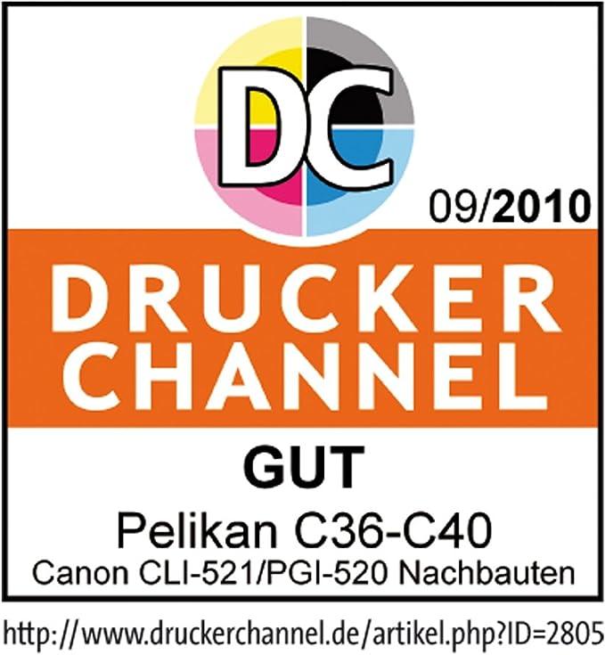 Pelikan C39 Druckerpatrone Ersetzt Canon Cli 521m Magenta Bürobedarf Schreibwaren