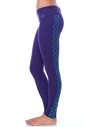 442336c00d7b3 Purusha People Sailing Seas Organic Leggings Womens Active Organic Yoga  Leggings Blue