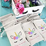 Unicorn Party Favor Bags for Kids Birthday Party Decoration 10 Pack