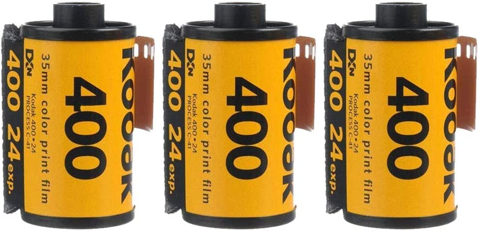 3 Rolls Kodak UltraMax 400 35mm Film GC24 135-24 Exp Gold Color Print Expired