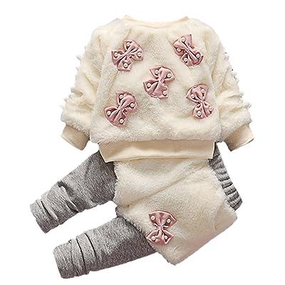 5dbd02ff2df84 Scothen Bébé Enfants Filles Vestes + Pantalons Vêtements Ensembles Bébé  Ensembles Bébé Filles Manteaux Vestes D hiver À Capuche Tenues Coton  Élégant O-cou R