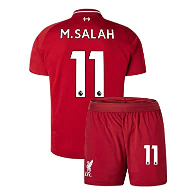 196980256 Youth M Salah  11 Liverpool 2018 19 New Home Kids Boys Soccer Jersey