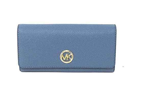 b9165847b782 Image Unavailable. Image not available for. Color  Michael Kors Signature  Fulton Flap Continental Carryall Wallet Denim