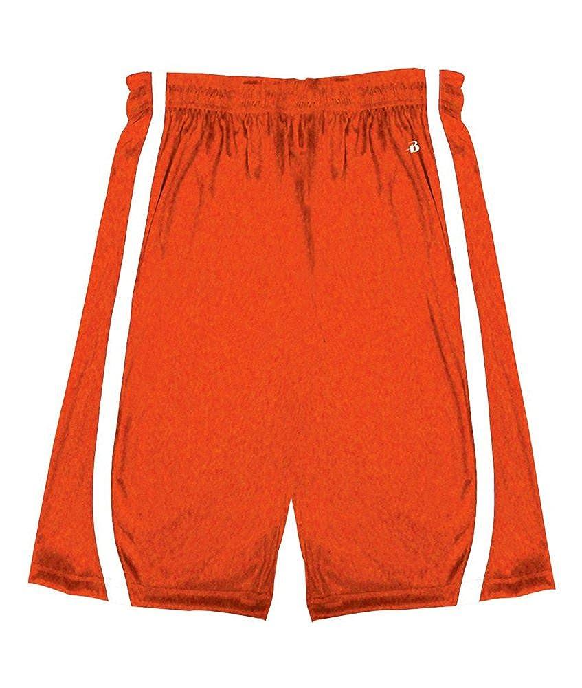 Badger SHORTS ボーイズ B00G278KSY オレンジ/ホワイト(Burnt Ornge/Wht) S