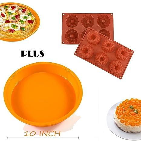 [Bundt Cake Topping + redondo/cuadrado para tartas] silconce molde, Didadi alimentos