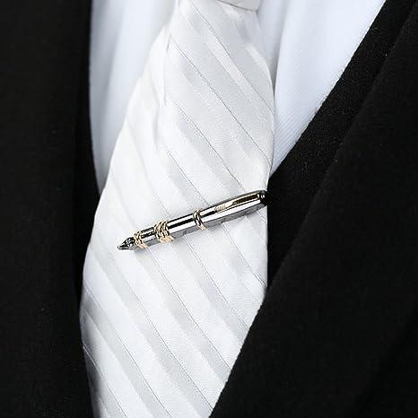 fogun Hombres lápiz Dekor corbata cerrojo Pin cierre para Boda ...