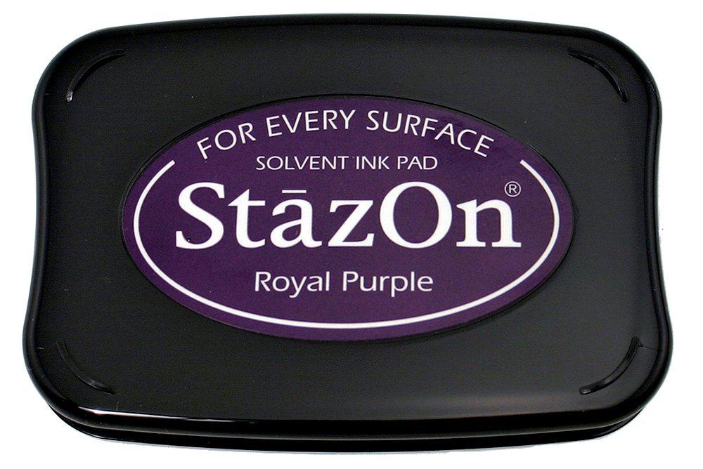 StazOn SZ101 - Almohadilla de tinta para sellos, color púrpura SZ000101