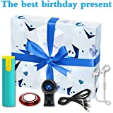 ANEWSIR Pacchetto di Compleanno,[5 Pack] Mini Power Bank, Cavo di Ricarica USB 3 in 1, Cuffie Bluetooth, Obiettivo grandangolare per Telefono 120 °, Supporto per Anello Telefono Cellulare.