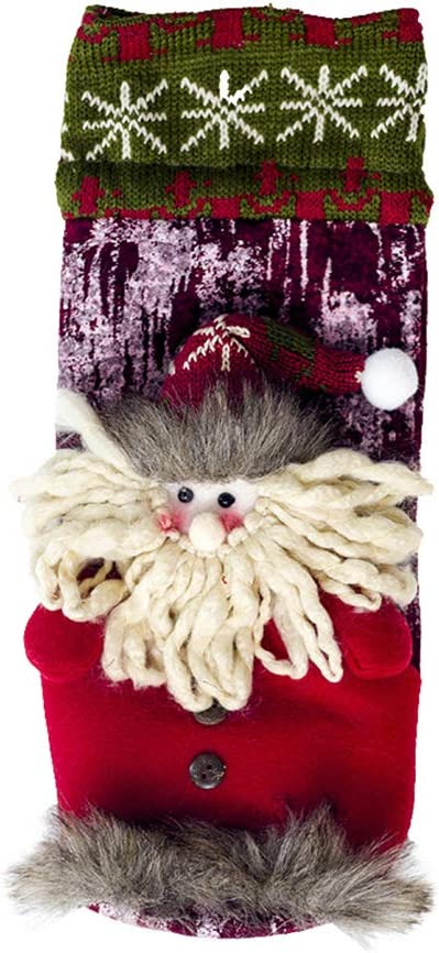 Brave669 Lovely Snowman Deer Santa Claus Champagne Wine Bottle Cover Christmas Decor