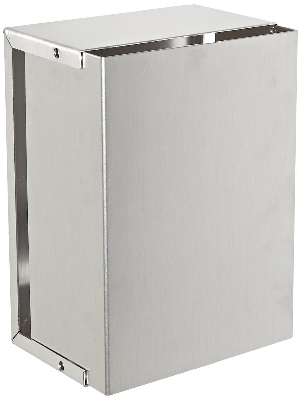 BUD Industries CU-3008-A Aluminum Electronics Minibox, 7' Length x 5' Width x 3' Height, Natural Finish 7 Length x 5 Width x 3 Height