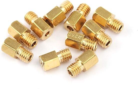 Artudatech esagonali per carburatore MIKUNI VM//TM//TMX 200-290 220 250 4//042 10 pezzi Getti principali per moto