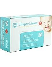 Bumkins Flushable Diaper Liner, Neutral, 100-Pack