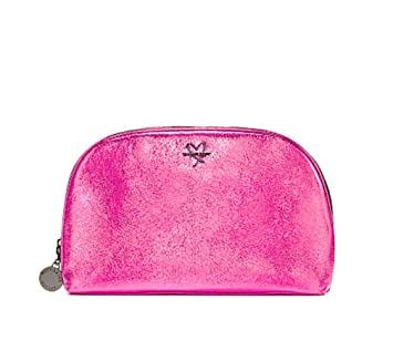 Amazon.com   Victoria Secret Cosmetic Bag Metallic Pink Double Zipper    Beauty c9e8258756