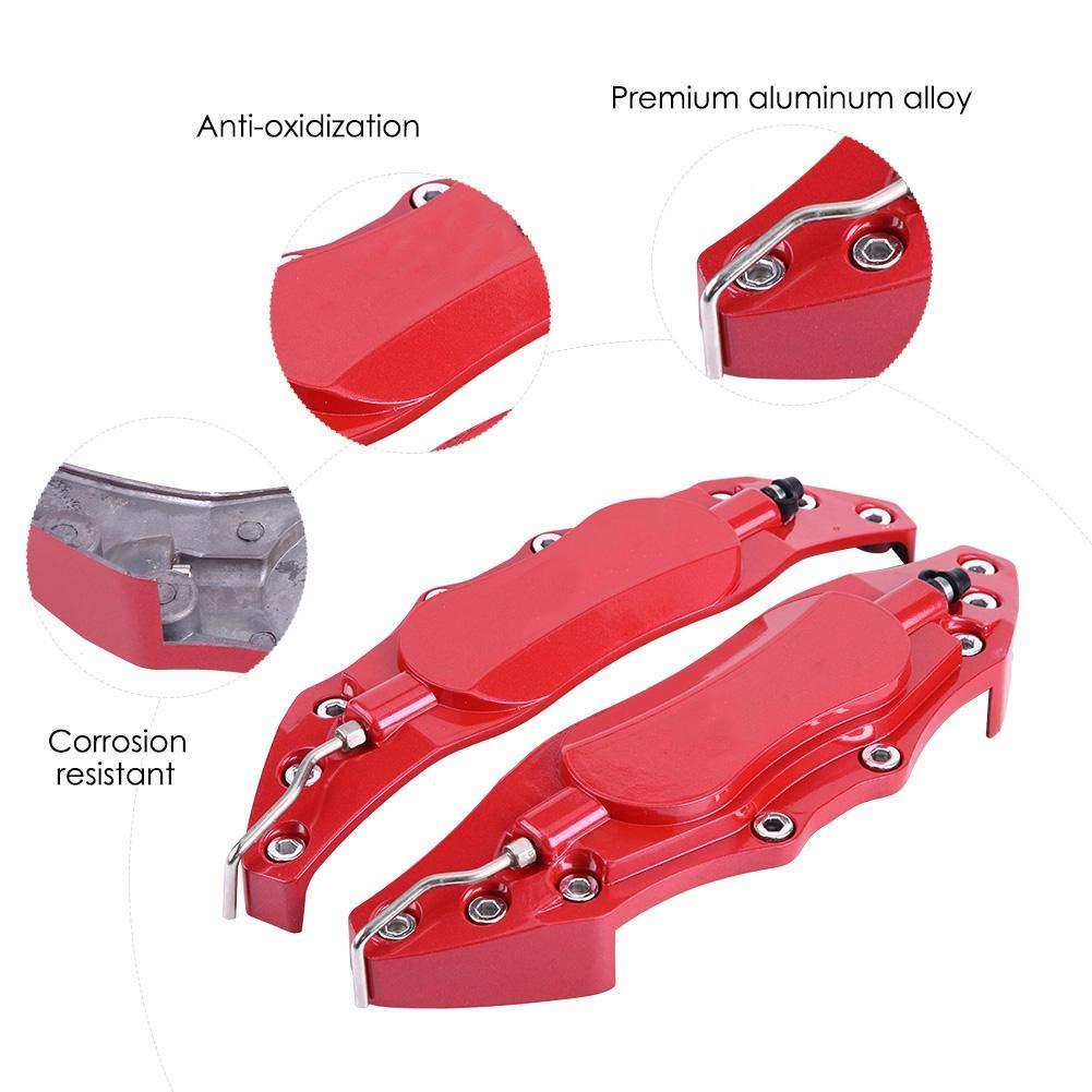 Qiilu Pinza de freno Protector de Pinza de Freno Cubierta de Aleaci/ón de Aluminio para cubo de rueda 16in-17in mediano(roja)
