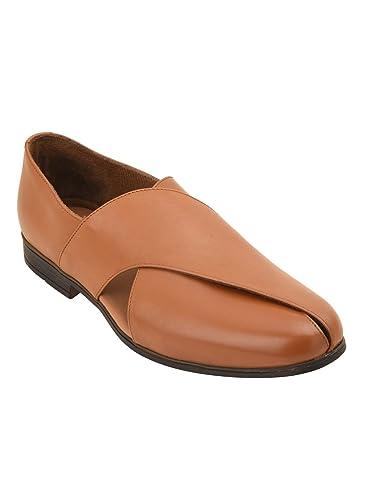 026c121b2a02 pelle albero Mens Leather Pishori Sandals Tan Colour  Amazon.in ...