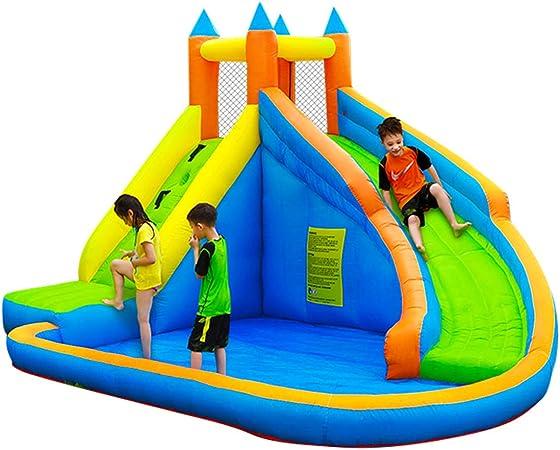 Toboganes De Agua para Piscina Infantil Grande, Piscina Infantil Inflable del Castillo Travieso con Capacidad para 5-12 Personas, Tamaño 400 * 300 * 225 Cm: Amazon.es: Hogar