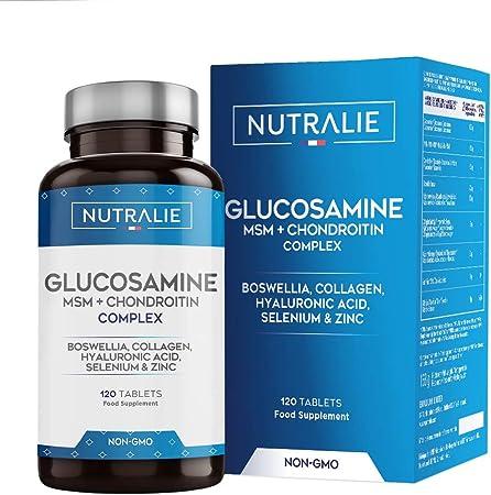 Glucosamina con Condroitina, MSM y Colágeno | Mantenimiento de Huesos Normales con Glucosamina, Condroitina, MSM, Colágeno, Ácido Hialurónico, ...
