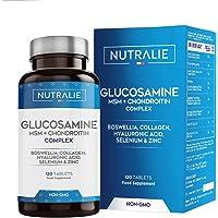 Glucosamina con Condroitina, MSM y Colágeno | Mantenimiento de Huesos Normales con…