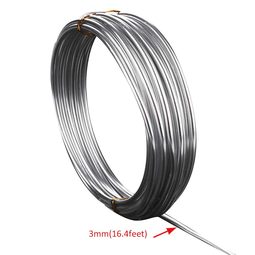 ZELARMAN 32.8 Feet Aluminum Craft Wire 1.5 mm Thickness Bendable Metal Craft Wire for DIY Crafts Making Dark Red