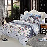 Anself 4pcs 3D Printed Floral Bedding Set Duvet Cover, Bed Sheet, 2 Pillowcases King/Queen/Twin Size