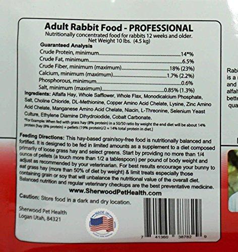 Product image of Sherwood Pet Health PROFESSIONAL Adult Rabbit Food (10 pounds)