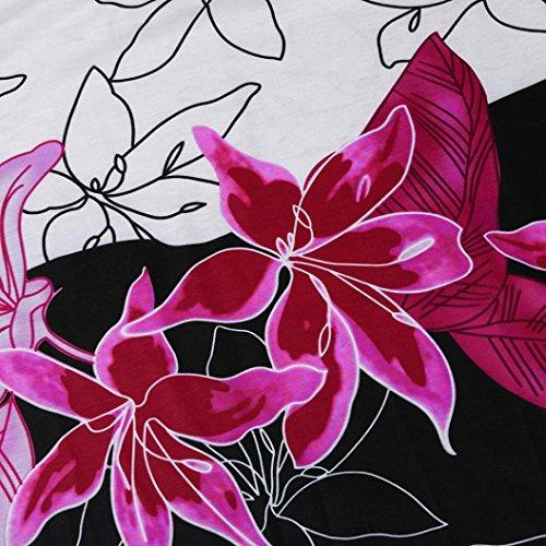 Bhydry Pink Camicia A Stampa Hot Corta Animali Manica Donna Punta Giacca Tonda gfPxgw