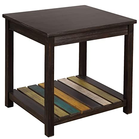 Amazon.com: Lonma Chairside End Table Retro Style Solid Wood ...