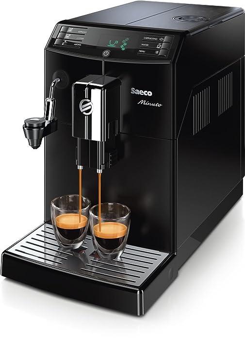 Philips Saeco Minuto - Cafetera automática espresso, con espumador de leche automático