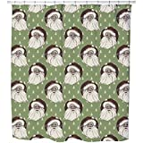 Uneekee Holy moly Shower Curtain: Large Waterproof Luxurious Bathroom Design Woven Fabric