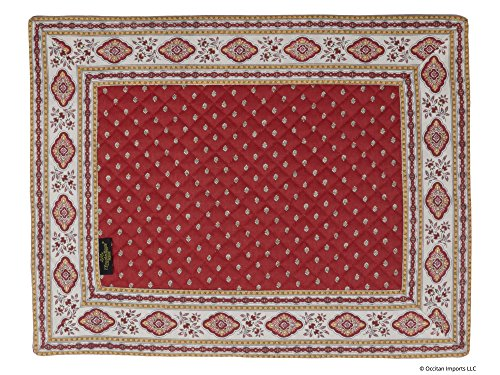 Occitan Imports Esterel Terre Cuite Bordered French Place Mat, Set of 4