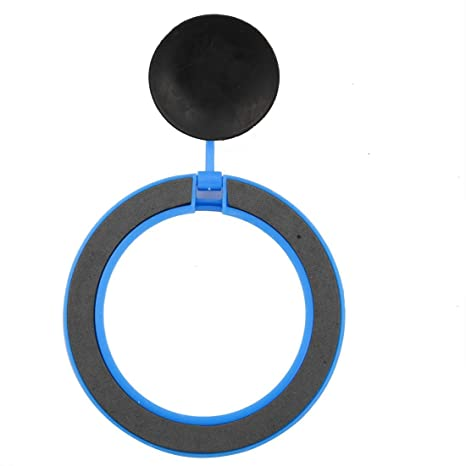 Amazon.com : eDealMax acuario plástico del tanque de pescados brazo Ajustable ventosa Fish Food Alimentación anillo Azul : Pet Supplies