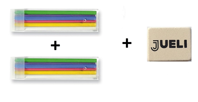 Koh-I-Noor 2 Confezioni di Gessetti da sarto di ricambio, ogniuno da 6 pezzi, colori vari (verde, rosso, blu, bianco, giallo, viola)