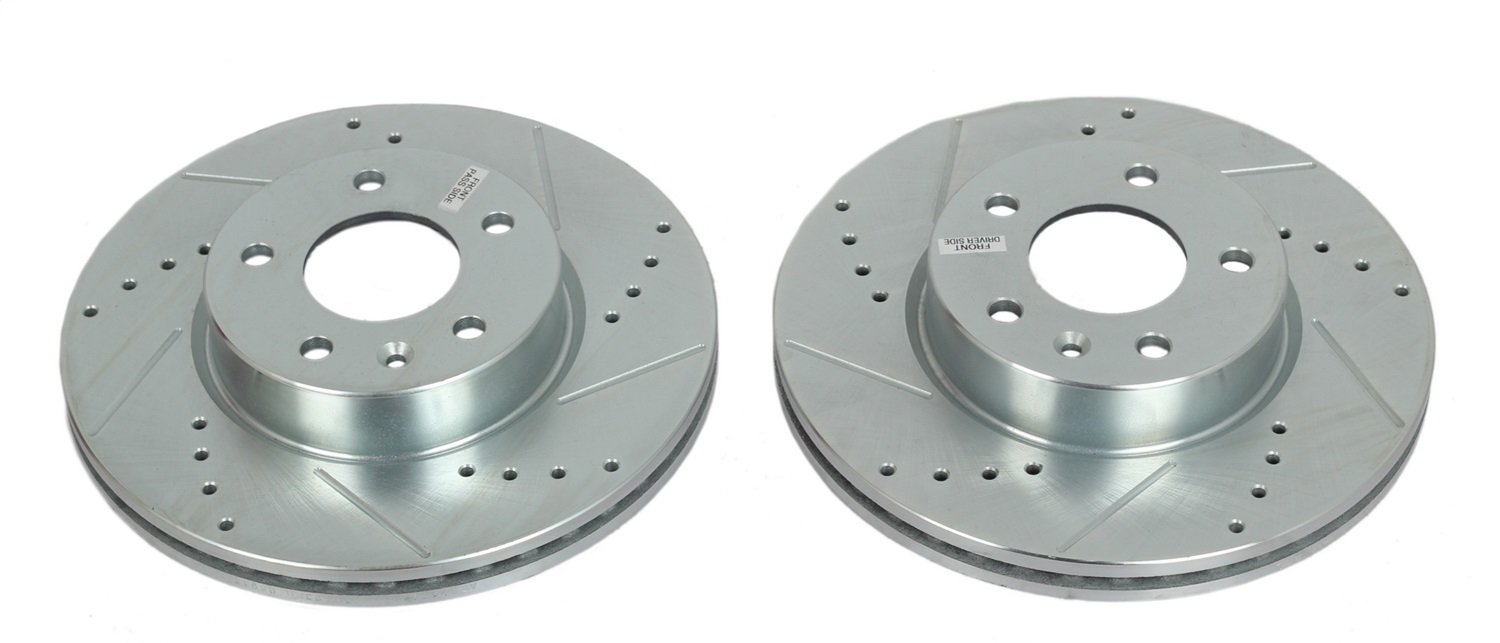 Power Stop AR82159XPR Front Evolution Performance Drilled, Slotted& Plated Brake Rotor Pair
