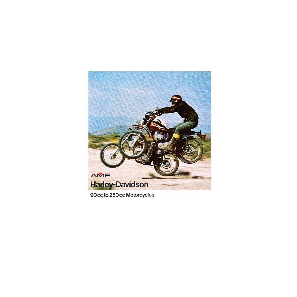 1975 Harley Davidson Motorcycle Sales Brochure   SX 250 Z 90 SX 125 SX 175 X 90