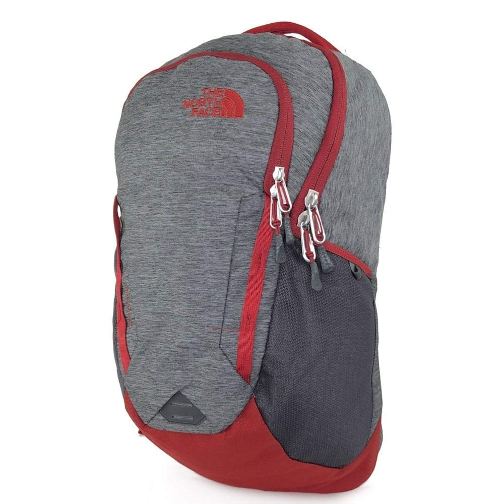 The North Face Vault Backpack, TNF Dark Grey Heather/Cardinal Red by The North Face