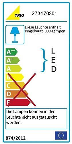 Trio Leuchten LED Wandleuchte Aragon 273170301, Kunststoff weiß, 3x 1 Watt