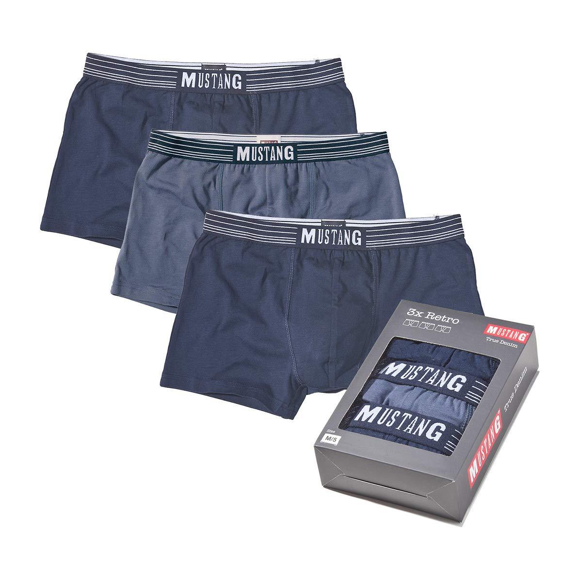 TALLA L (Gr. Large). Mustang Retro Shorts 3 Hombres, Pantalones Cortos, Pantalones, True Denim, S-XL