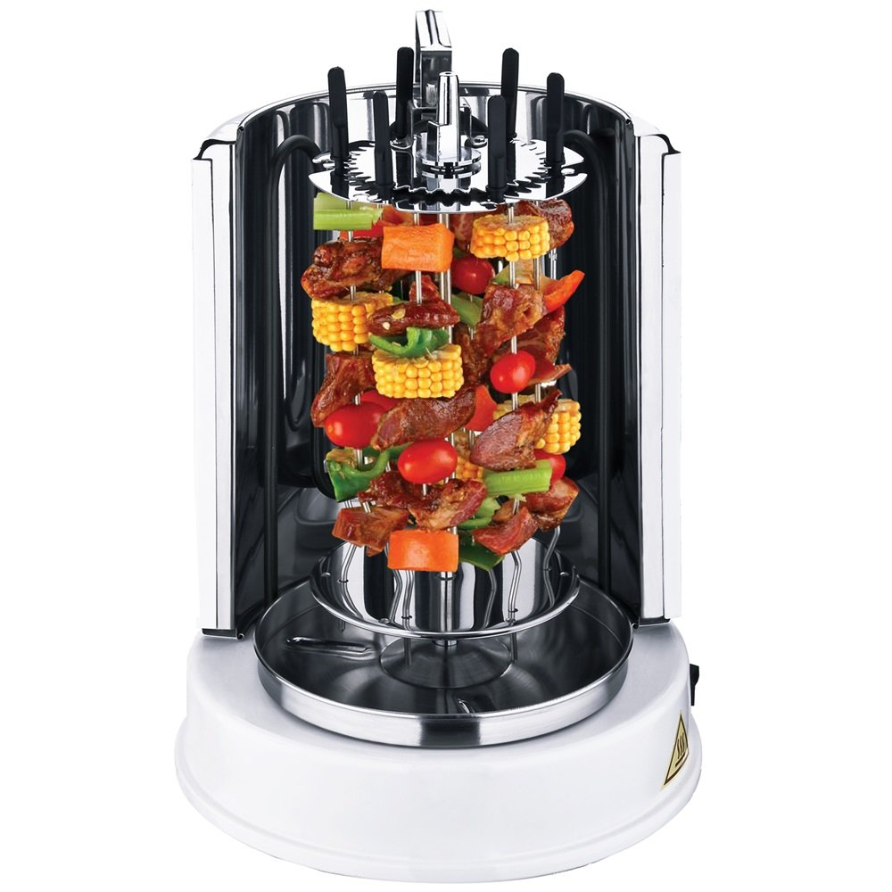 KeyTop Vertical Rotisserie Oven Electric Grill Countertop Oven Shawarma Machine Rotisserie Grill