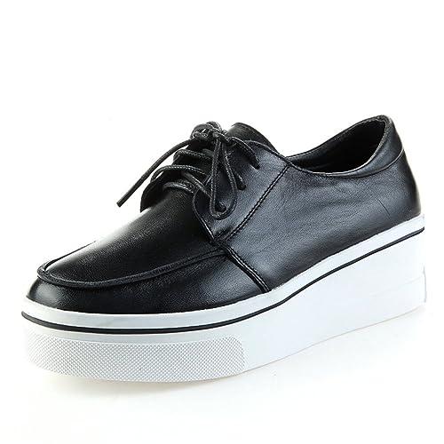 mocasines/zapatos casuales de cuero de pies/los zapatos de fondo grueso/zapatos
