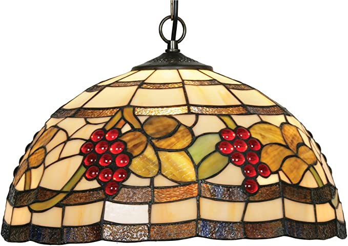 Imagen deOaks Lighting OT 6018/16 P - Lámpara de techo de cristal con diseño de uvas, 100 W, 41 x 30 cm, multicolor