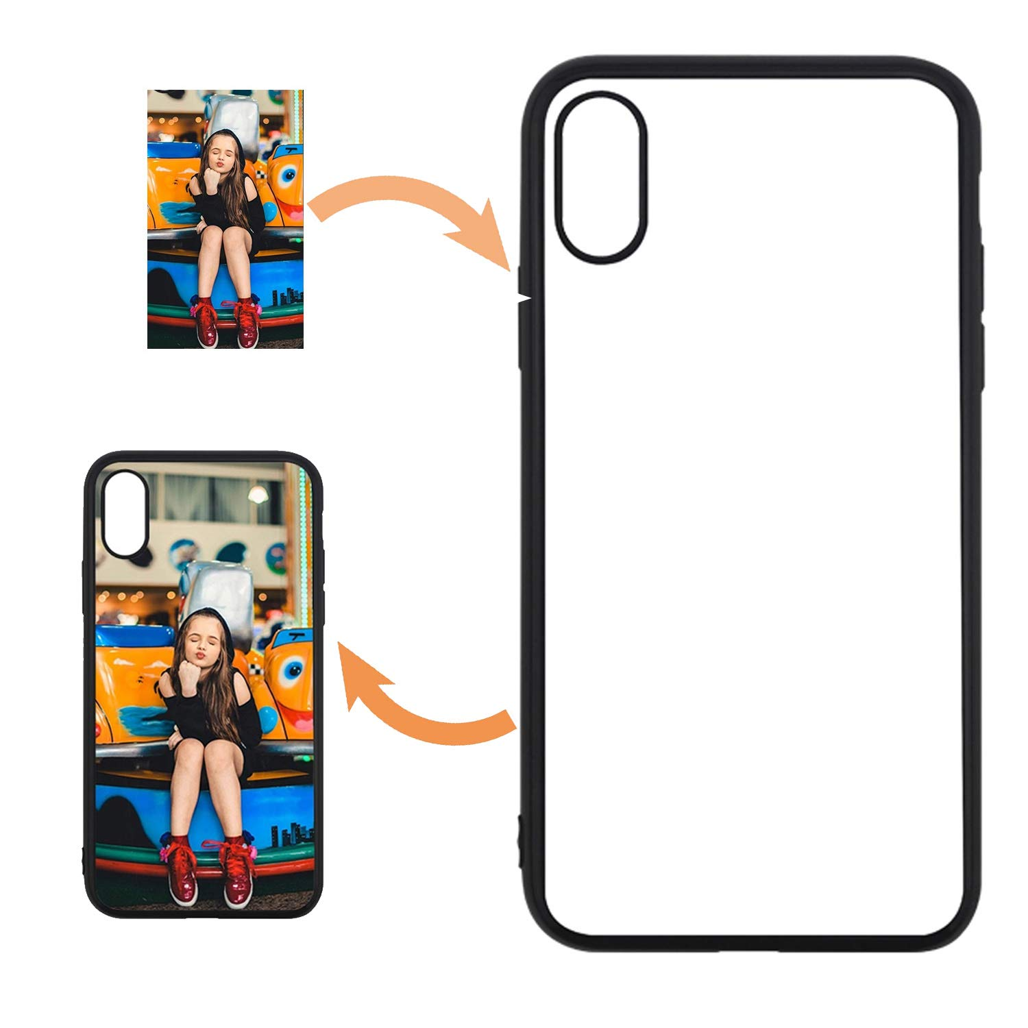 JUSTRY 10PCS Sublimation Blanks Phone Case Cases Anti-Scratch Covers Compatible with Apple iPhone Xs Max 6.5 Inch.Sublimation Blank Printable Phone Case for DIY Soft Rubber Polish DIY Your Phone Case
